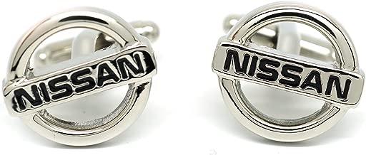 Teri's Boutique Mens Jewelry Auto Cars Nissan Logo Silver Tone Stylish Dress Shirt Cufflinks w/ Gift Box