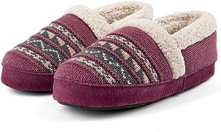 RockDove Women's Fair Isle Knit Memory Foam Slipper with Rubber Sole