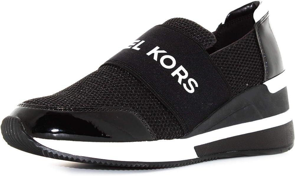 Michael kors felix trainer, sneakers per donna,scarpe sportive,in pelle e tessuto 8506674