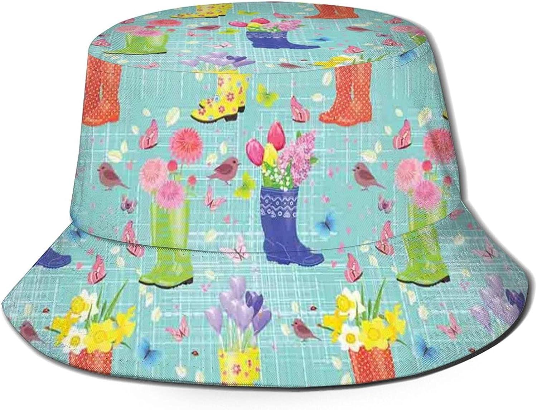 Unisex Bucket Hat Reversible Fisherman Hat Packable Casual Travel Beach Sun Hats for Men Women