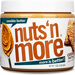 Nuts 'N More Cookie Butter Peanut Spread, All Natural High Protein Nut Butter, Healthy Snack, Omega 3's and Antioxidants, ...