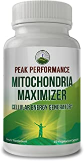 Mitochondria Maximizer with CoQ10 and Active PQQ. Best Mitochondrial Support Supplement with MCT Oil. Natural Cellular Generator for Clean, Focused Energy 60 Vegetarian Capsules