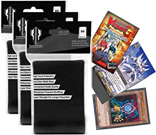 Small Size Yugioh Card Sleeves Black Matte Deck Protector Sleeves 62x89 mm for Yu-Gi-Oh (180)