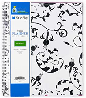 Blue Sky 2019 Monthly Planner, Flexible Cover, Twin-Wire Binding, 8