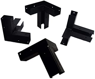 Copper Ridge Outdoors Platform Mounts - (Set of 4) - Elevated Platform Brackets, Powder Coated 11 Gauge Heavy Duty Steel, 4x4 Channels, Elevated Platform for Hunting Blind, Deer Stand Bracket 4x4