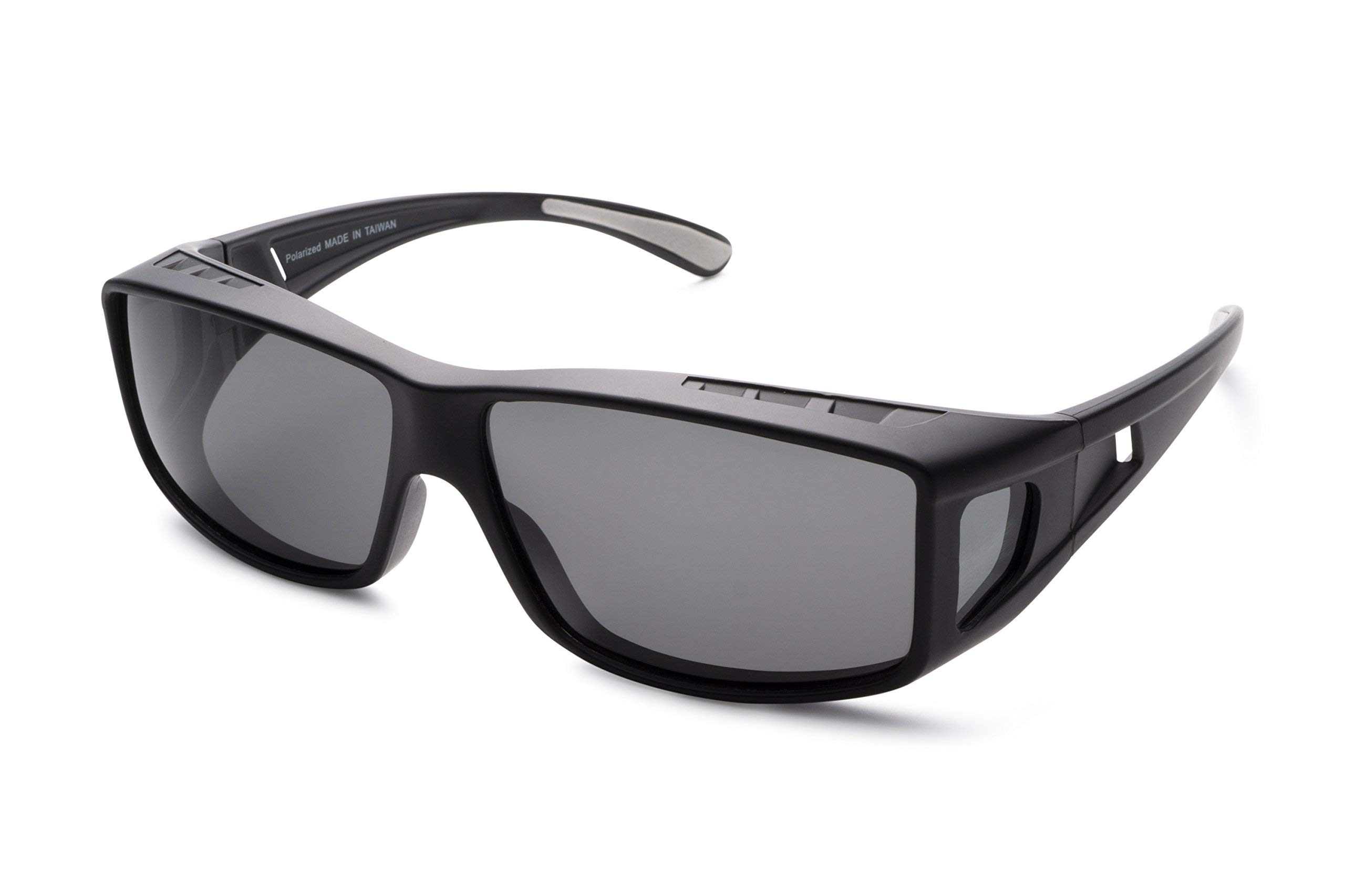 Mr Polarized Sunglasses Microfiber Charcoal