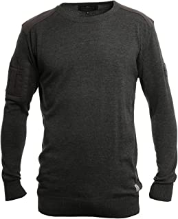 Crosshatch Mens New Linzee Crew Neck Cotton Jumper Parision Navy