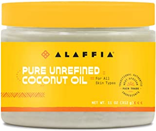 Alaffia Pure Unrefined Coconut Oil. Hydrates Skin and Hair with Restorative Vitamins and Minerals with Coconut Extract. Fa...
