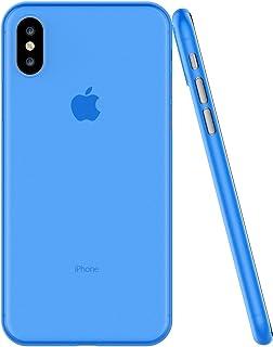 جراب / غطاء / حافظة حماية نحيف للغاية لهاتف / لتلفون أبل ايفون أكس أس ماكس مضاد للصدمات خفيف ورقيق 0.3 ملم - أزرق شفاف