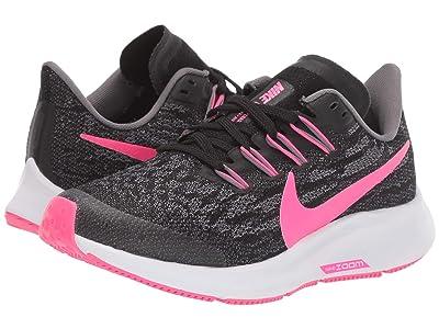 Nike Kids Air Zoom Pegasus 36 (Little Kid/Big Kid) (Black/Hyper Pink/Gunsmoke/White) Kids Shoes