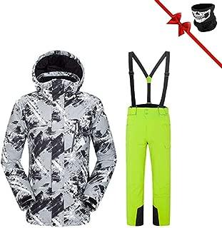 Professional Men Women Ski Suits Jackets + Pants Warm Winter Waterproof Skiing Snowboarding Clothing Set