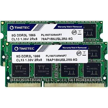 Timetec Hynix IC 16GB(8GBx 2枚) Mac用 DDR3L PC3-14900 1866MHz Apple専用増設メモリ 永久保証16GB(8GBx 2枚)