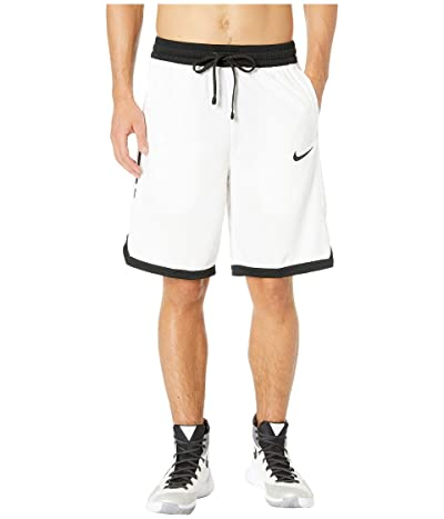 Nike Dry Elite Shorts Stripe (White/Black/Black/Black) Men