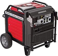 Honda Power Equipment EU7000IAT1 660270 7,000W Super Quiet Portable Inverter Generator with Electric Start, Steel