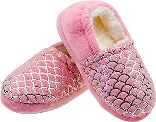 دمپایی دخترانه LULEX کفش گرم خانه فازی گرم و سفید دمپایی اتاق خواب کودکان ضد لغزش