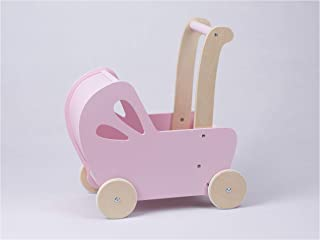 LINE Baby Doll Wooden Pram in Pink