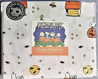 Peanuts Halloween Snoopy and Woodstock Queen Sheet Set Berkshire-Blanket