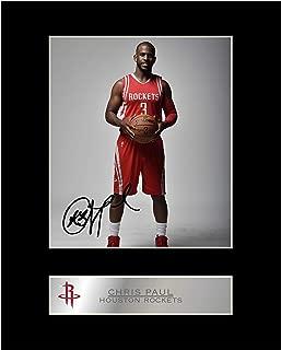 iconic pics Chris Paul Signed Mounted Photo Display Houston Rockets