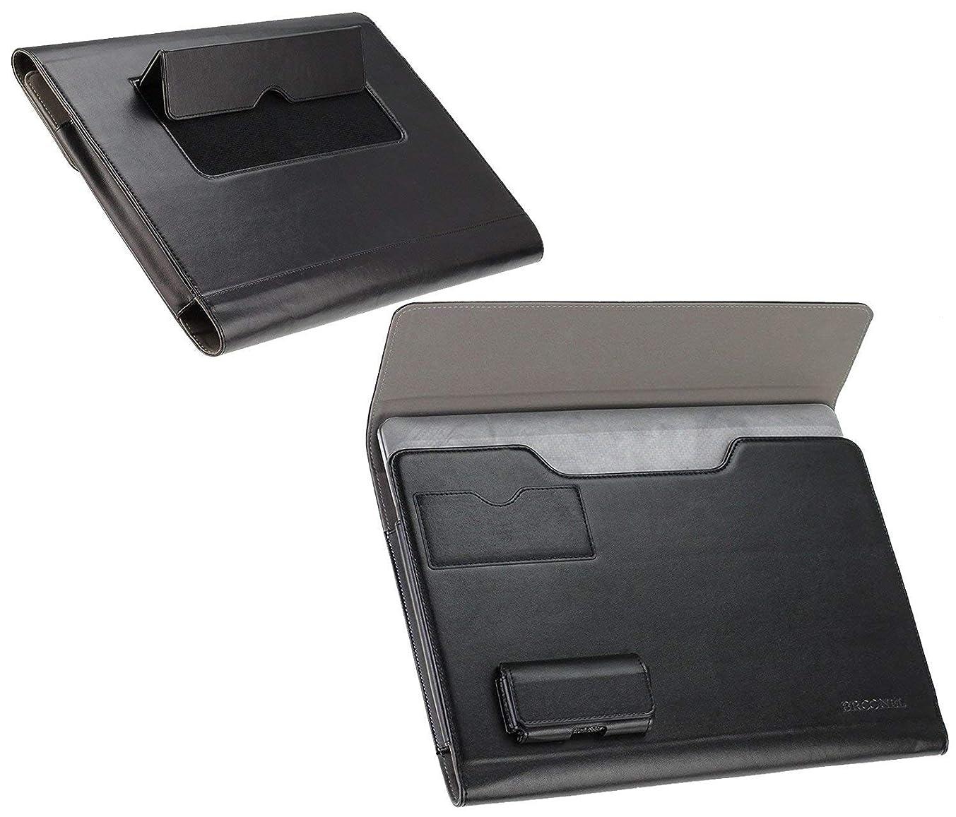 Broonel - Prestige - Black Luxury Laptop Folio Case Cover Compatible with The ASUS Zenbook UX331 / ASUS Zenbook Flip S UX370 / ASUS Chromebook Flip C434 14