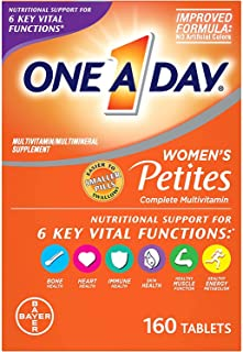 One A Day Women's Petites Multivitamin,Supplement with Vitamin A, Vitamin C, Vitamin D, Vitamin E and Zinc for Immune Heal...