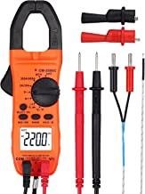 Proster Auto-ranging Clamp Meter TRMS Multimeter with NCV 600A AC Current AC/DC Voltage Continuity Resistance Frequency Temperature Diode Hz Tester