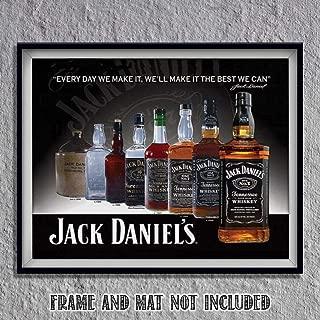 Jack Daniels Evolution Sign Wall Art- 8 x 10