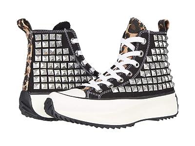 Steve Madden Shaft High-Top Sneaker (Black/Stud) Women