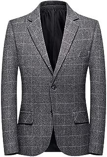 Blazer Fashion Men's Plaid Casual Suit Lapel Slim Fit Stylish Jacket Blazer