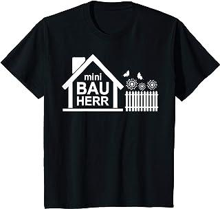 Shirt für Häuslebauer Geschenk zum Richtfest Bau Kinder mini Bauherr Heimwerker Hausbau Haus Bauen Hausbauer Bau T-Shirt