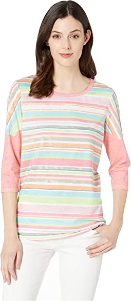 493c8dd401a1b Tribal 3 4 sleeve burnout jersey v neck top | Shipped Free at Zappos
