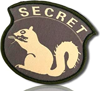 Special Ops Forest OD Olive Military Morale Agent Spy Secretive Secret Squirrel Bold All Cap Caps Capitol Font Hook & Loop Fastener Patch [10 Pack - 2.5