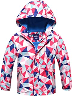 M2C Boys Hooded Fleece Lined Waterproof Windbreaker Active Jacket
