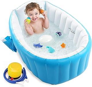 Baby Inflatable Bathtub, UUHOME Portable Infant Toddler Bathing Tub Non Slip Travel Bathtub Mini Air Swimming Pool Kids Th...