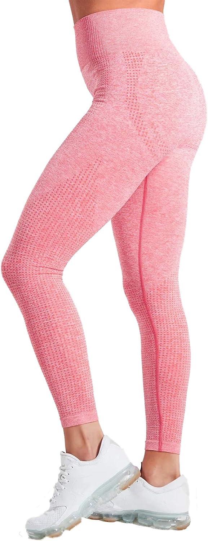 Pau1Hami1ton Talle Alto Sin Costura Leggins para Mujer Gimnasio Capri Mallas Pantalones de Yoga Niñas Fitness Leggings Deportivos GP-13
