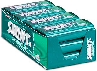 SMINT Fresh Effect Eucalyptus – 12 blikjes met 50 krachtige pepermuntjes, suikervrije pastilles voor een fris neus- en kee...
