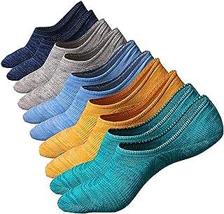 SZSMART, Calcetínes del Tobillo Calcetines Cortos Sneaker de Deporte Hombre Invisibles Antideslizantes Respirable Calcetín Algodón Low Cut Barco Calcetines (Style A)