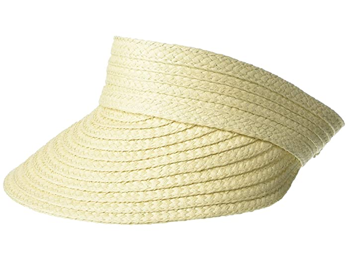 Women's Vintage Hats | Old Fashioned Hats | Retro Hats LAUREN Ralph Lauren Raffia Braid Visor Natural Caps $48.00 AT vintagedancer.com