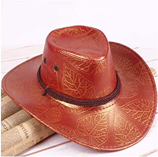 HaiNing Zheng 2018 Summer American Wind Great Western Cowboy Hat Leather Knight Hat Outdoor Cap Visor Men And Women Breathable Hat
