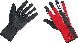 GORE BIKE WEAR Power Windstopper Soft Shell Gloves, Black/Brilliant Blue, Medium