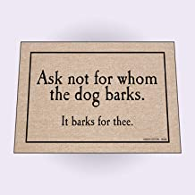 product image for HIGH COTTON Doormat - for Whom The Dog Barks