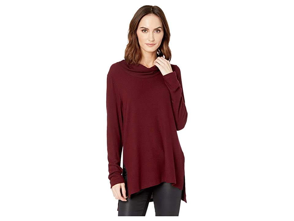Karen Kane Cowl Neck Sweater (Wine) Women