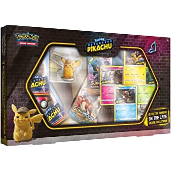 Amazon Com Pokemon Tcg Detective Pikachu On The Case Box 4 Foil Promo Cards 5 Booster Packs Detective Pikachu Figure Toys Games