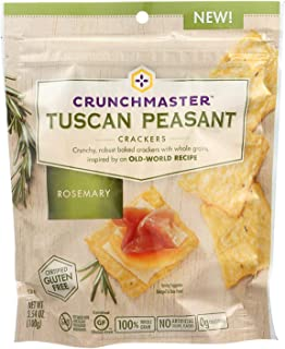 CRUNCHMASTER, Crck, Tscn Psnt, Rosemary, Pack of 12, Size 3.54 OZ, (Dairy Free Gluten Free GMO Free Vegan Wheat Free)