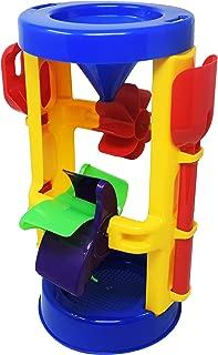 Beachgoer 3 Piece Sand Wheel Beach Toy Set for Kids - Sand Sifting Funnel Toy Rake Shovel Set