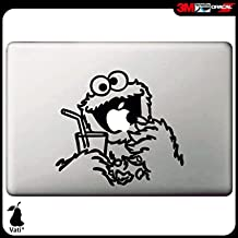 Vati Hojas desprendibles Carácter Creativo de la Historieta de Apple Comer Sticker Decal Skin Arte Negro para Apple Macbook Pro Aire Mac 13