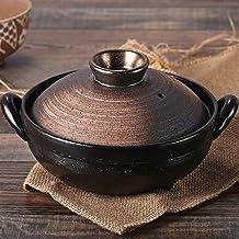 Praktisch Casserole gerechten braadpan schotel met deksel braadpan aardewerk pot hot kan pan, ronde keramische pan schote...