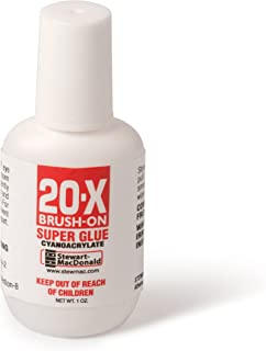 StewMac Brush-on Super Glue, No. 20 Medium, 1-oz Bottle