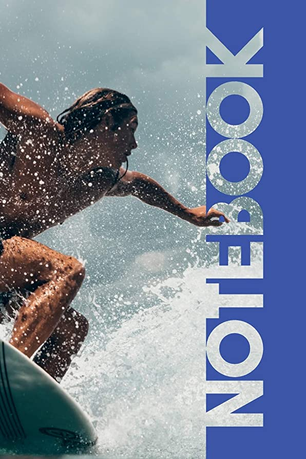 人種グラフ敵対的Notebook: Surfer Girl Stylish Composition Book for Surfing Vacation 2019
