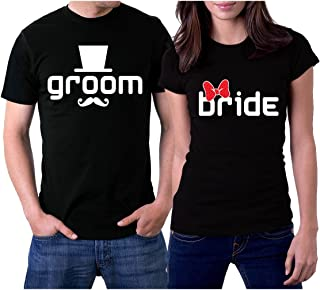 Groom & Bride Newlywed Matching Couple Shirts