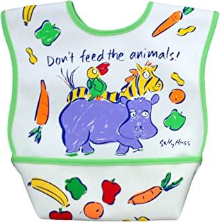Dex Dura Bib Large for Ages 6 - 24 Months - Don`t Feed the Animals